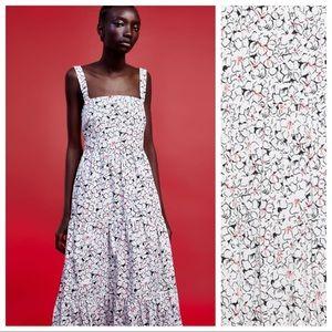 NWOT. Zara 100% Cotton Floral Print Dress. Size XL